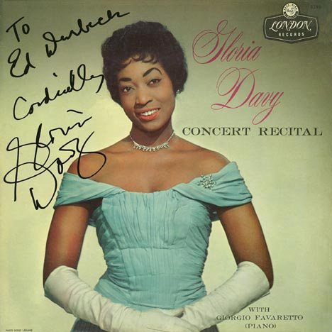 Autographed by Gloria Davy